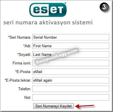 ESET Mobile Security Activation Form