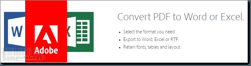 Adobe Word Excel PDF Streamline Office Work