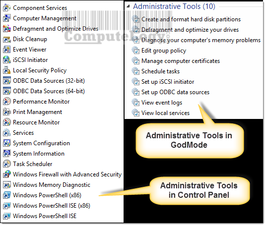 ComputeLogy-Administrative-Tools-in-Control-Panel-and-GodMode
