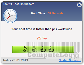 Toolwiz Care 2 Improved PC Startup Time