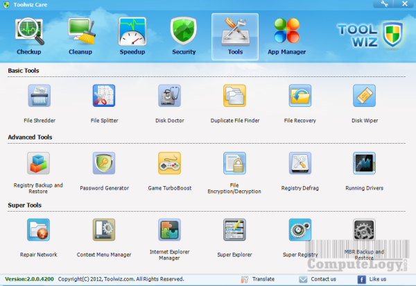 Toolwiz Care 2 Tools