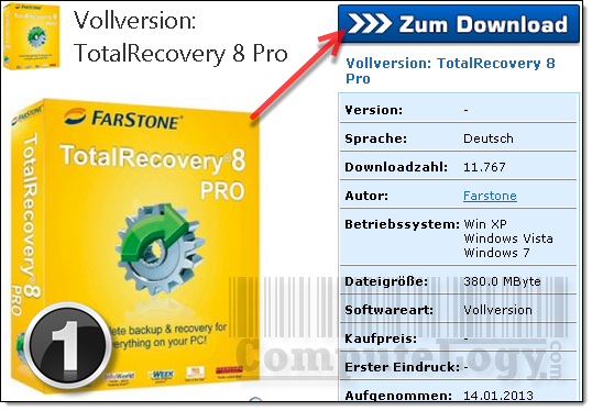 FarStone TotalRecovery Pro 8 Promo Page 1