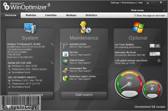 Ashampoo WinOptimizer 9