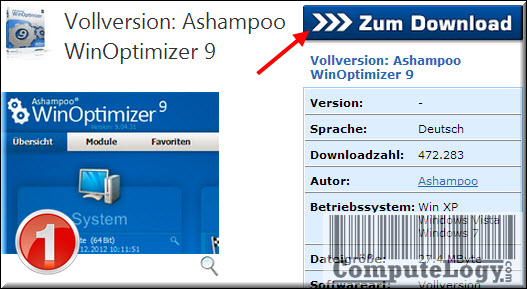 Ashampoo WinOptimizer 9 Download 1