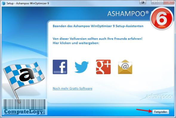 Ashampoo WinOptimizer 9 Installation 6