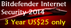 Bitdefender Internet Security 2014 For $25 [3 Years]