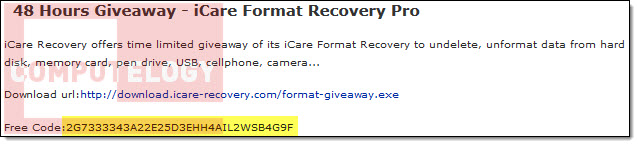 iCare Format Recovery Pro License Info