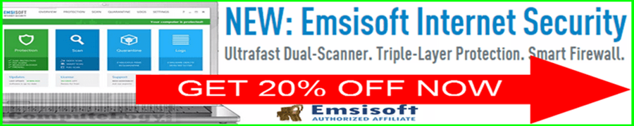 GET 20% OFF Emsisoft Internet Security