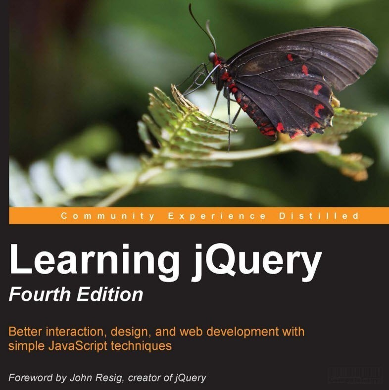 Learning jQuery - Fourth Edition ebook cover page extra computelogy-com