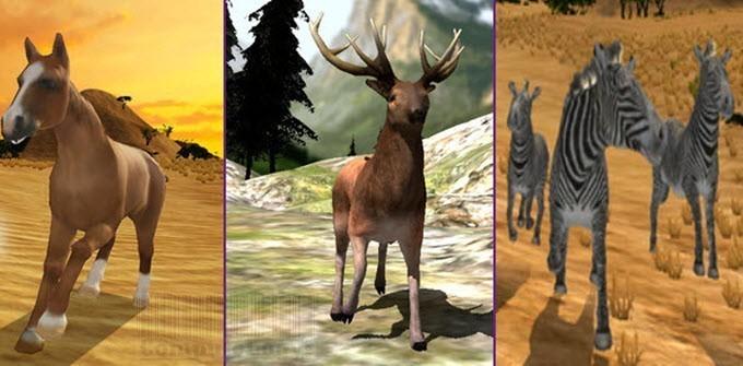 Simulator Apps Arabian Horse Deer Zebra Family