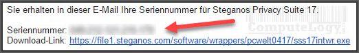 Steganos Privacy Suite 17 license email computelogy-com