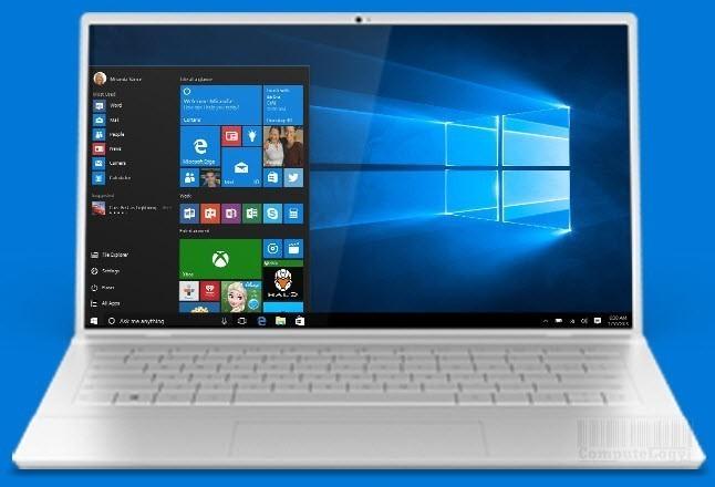 Windows 10 laptop photo computelogy