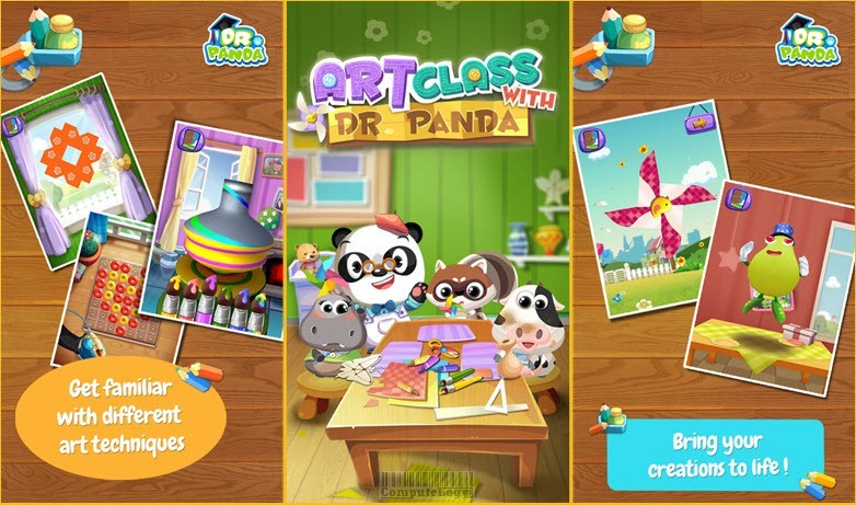 art class with doctor panda iphone ipad android app banner