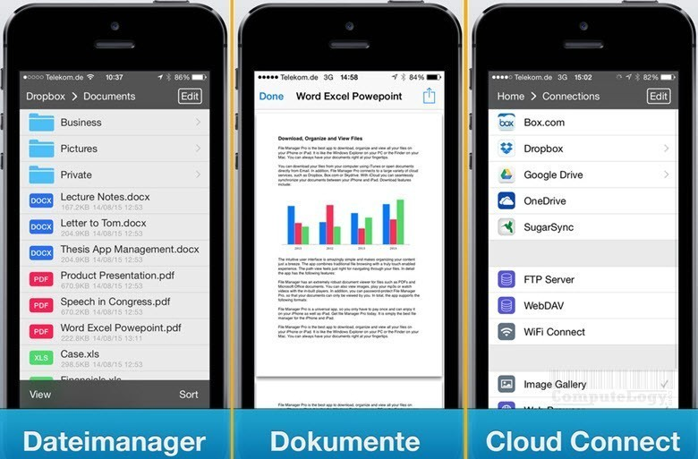 file manager pro iphone ipad app interface