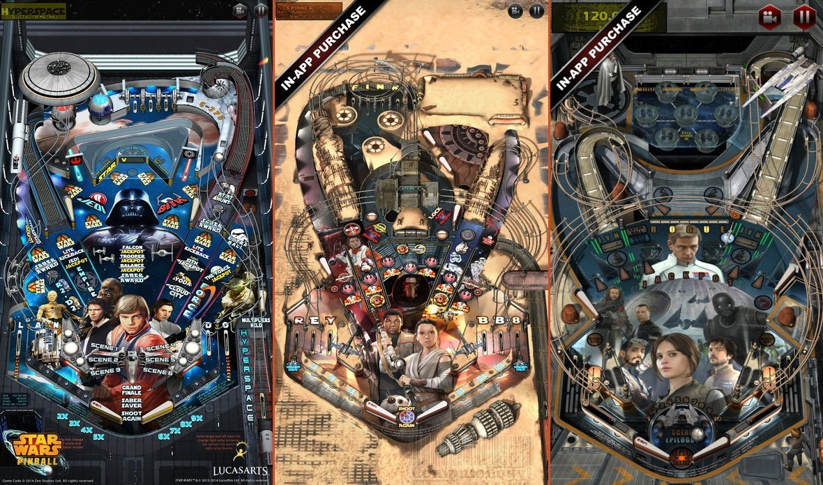 star wars pinball app for iphone ipad poster