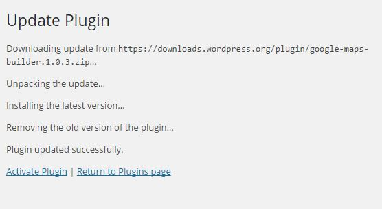 wordpress plugin Rollback activation