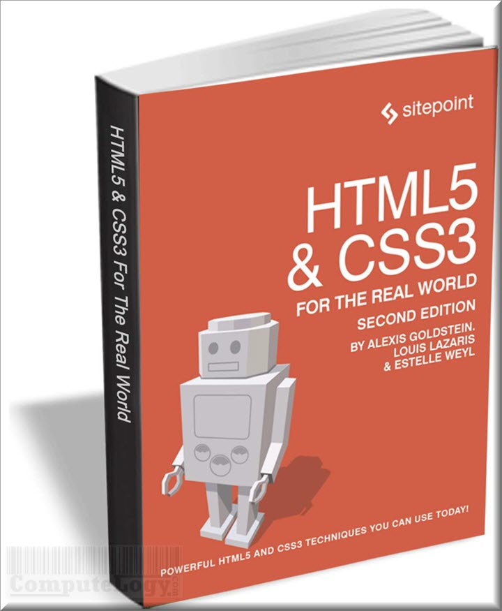HTML5 & CSS3 for the Real World 2nd edition ebook book cover titile page computelogy-com