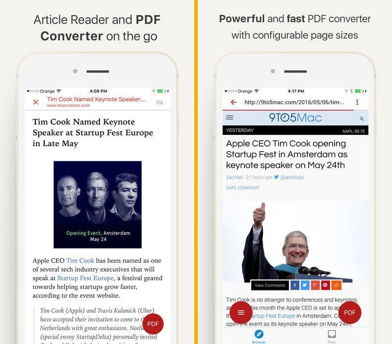 InstaWeb Web to PDF Converter Article Reader