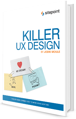 Killer UX Design book cover title page computelogy-com sitepoint