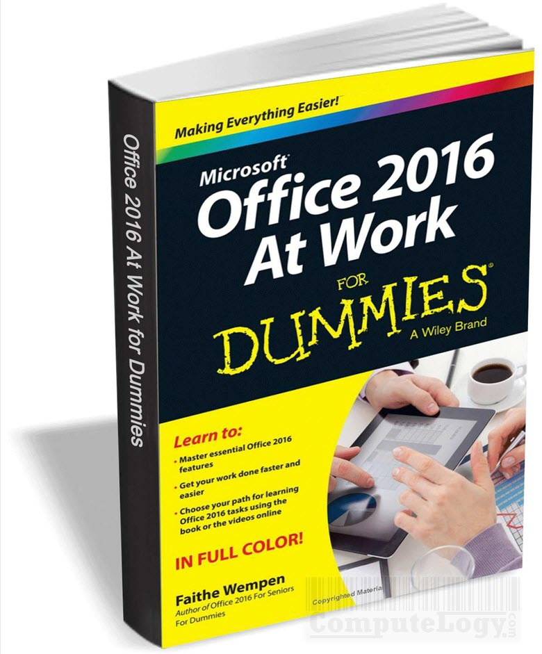 office 2016 at work for dummies book cover title page computelogy-com