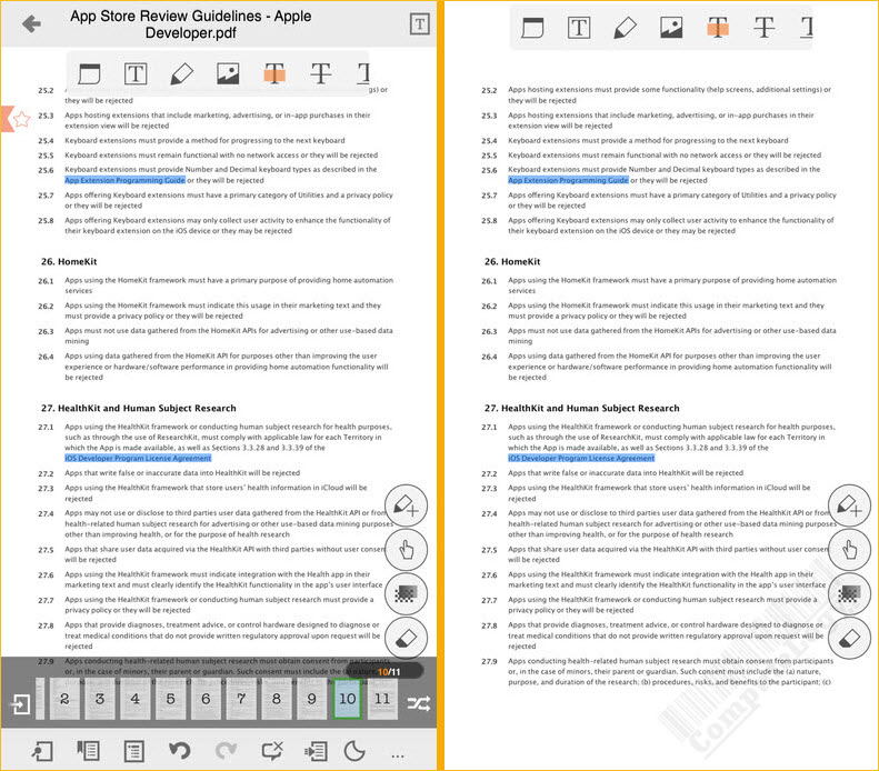 ezPDF Reader PDF Reader Annotator Form Filler iphone ipad ipot touch app banner