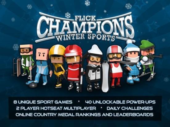 Flick Champions Summer Sports and Flick Champions Winter Sports ios app banner computelogy com