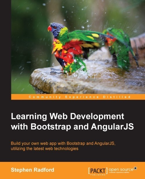 Learning Web Developement with Bootstrap and Angularjs book cover title page