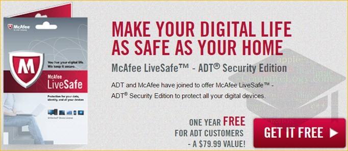 McAfee LiveSafe promo banner computelogy-com