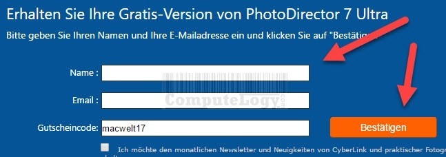 PhotoDirector 7 Ultra license request form computelogy-com