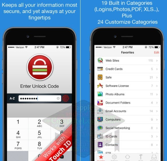 iPassSafe Password Safe APP iphone ipad ipod touch computelogy-com