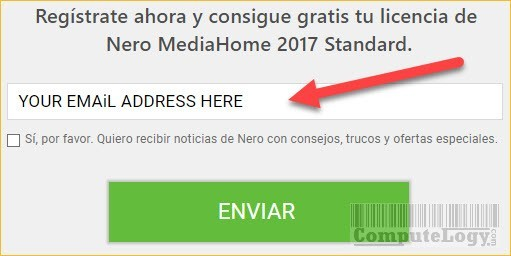 nero mediahome 2017 license request form