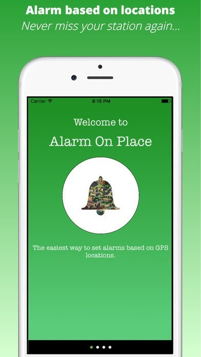 Alarm On Place - Ideal for commute sleepers app for iphone ipad ipod computelogy-com