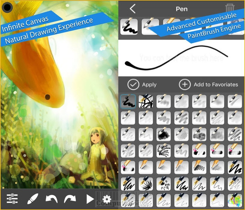 MyBrushes Pro - Sketch, Paint and Draw app banner