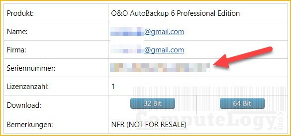 OO autobackup 6 professional promo email license computelogy-com