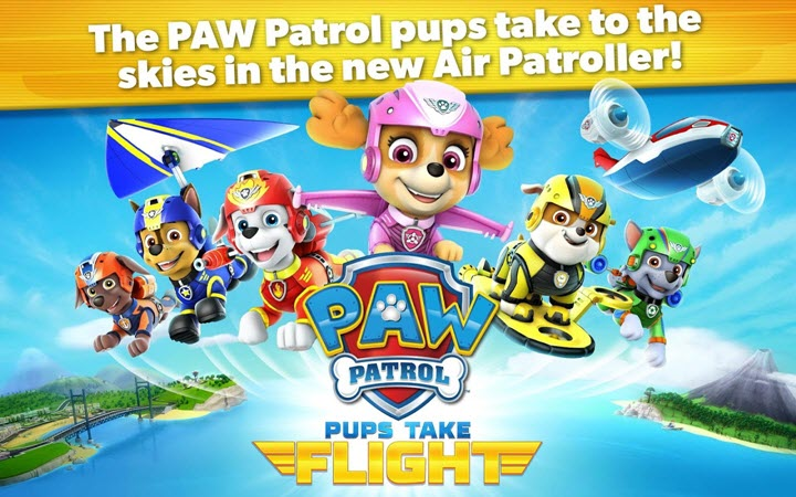 PAW Patrol Pups Take Flight banner computelogy-com