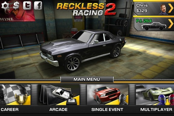 Reckless Racing 2 app banner computeloyg-com