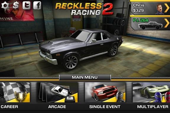 Reckless Racing 2 app banner computeloyg-com