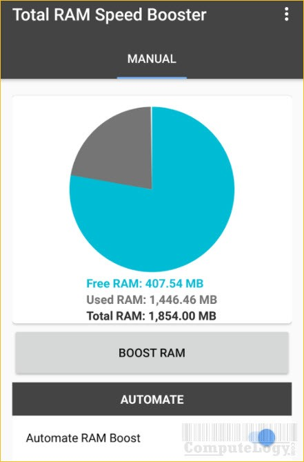 Total RAM Speed Booster android app banner computelogy-com