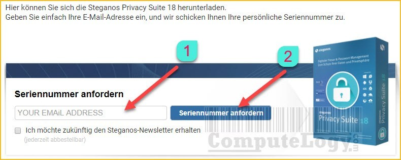 Steganos Privacy Suite 18 license key serial request form online