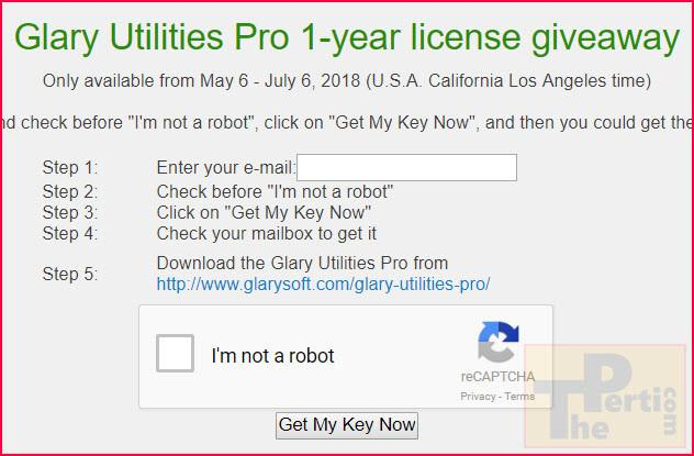 license key for glary utilities 5